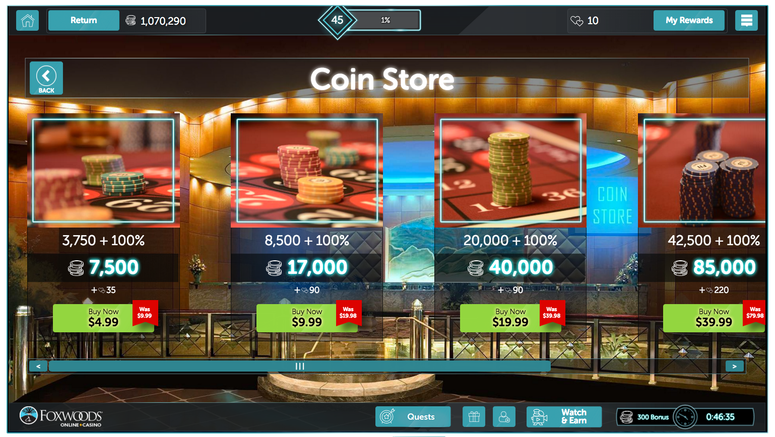 How to buy coins on android mobile device foxwoodsonline - Coin casa shop on line ...